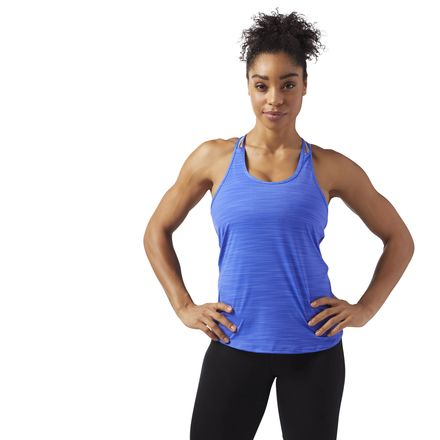 Reebok ACTIVCHILL Women's Training T-Back Tank Top in Acid Blue