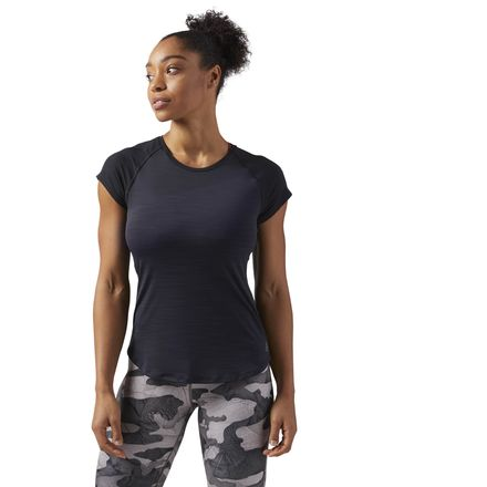 Reebok ACTIVCHILL Vent Women's Training T-Shirt in Black