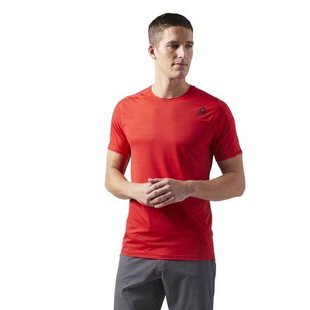 Reebok ACTIVCHILL Move Tee Men's Training T-Shirt in Primal Red