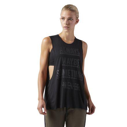 Reebok Training Supply Women's Muscle Tank Top in Black