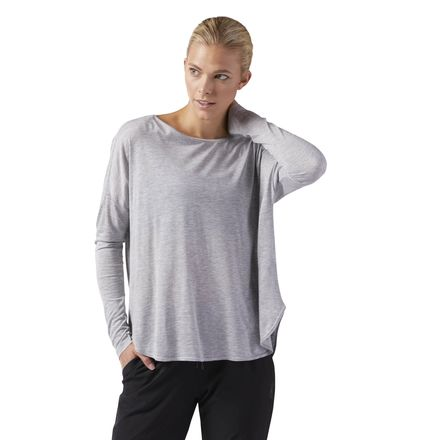 Reebok Training Supply Women's Long Sleeve T-Shirt in Grey
