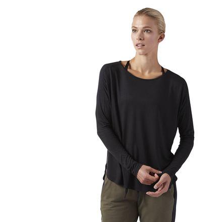 Reebok Training Supply Women's Long Sleeve T-Shirt in Black