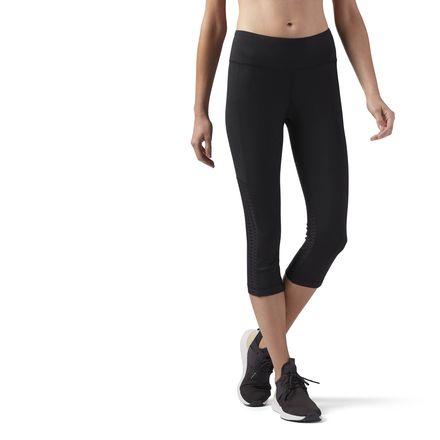 Reebok Mesh Capri Women's Studio Leggings in Black