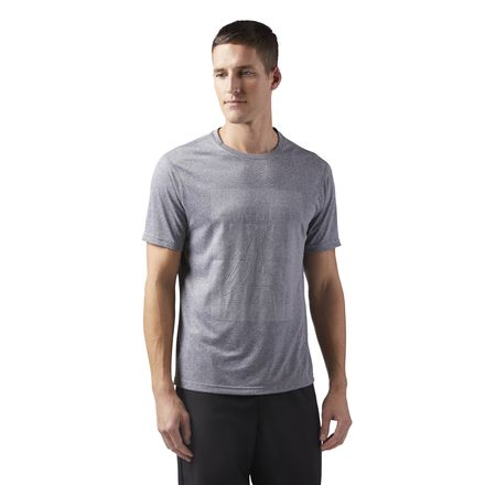 Reebok Reflective Running Men's T-Shirt in Dark Grey
