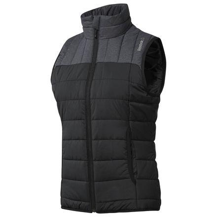 Reebok Outdoor Padded Vest Women's in Black / Dark Grey