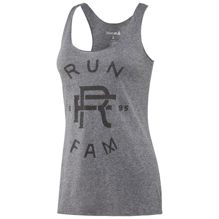 Reebok Graphic Women's Running FAM Tank Top in Premium Heather