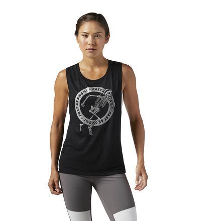 Reebok Graphic Women's Running Skeleton Tank Top in Black