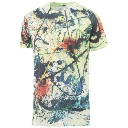 Reebok Paint Splatter Tee Men's Training T-Shirt in Medium Grey Heather
