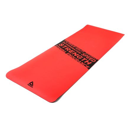 """Reebok Fitness Mat Red """"Strength"""" in Red"""