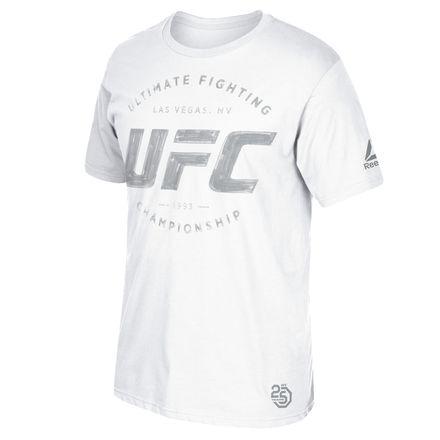 Reebok UFC 226 Weigh-In Athlete Silver - Blue Corner Men's MMA T-Shirt in White
