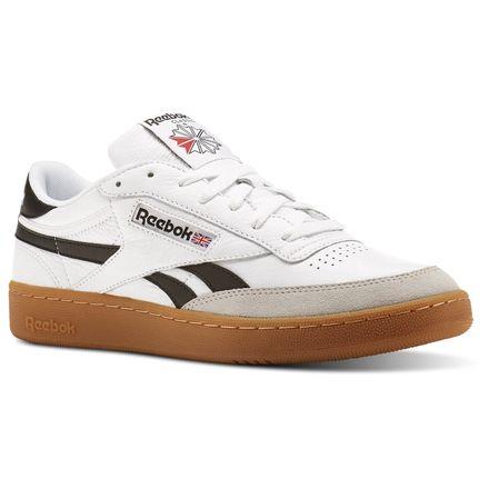Reebok Revenge Plus Gum Men's Court Shoes in White / Snowy Grey / Black-Gum