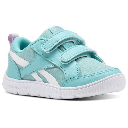 Reebok Ventureflex Chase II - Infant & Toddler Casual Shoes in Turquoise / Moonglow / White