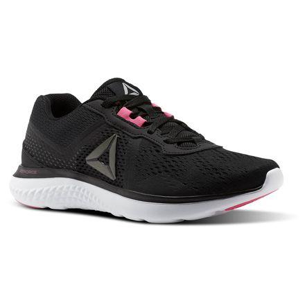 Reebok ASTRORIDE RUN EDGE Women's Running Shoes in Black / Solar Pink / Pewter / Gravel