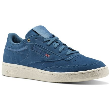 Reebok Club C 85 Montana Cans collaboration Unisex Court Shoes in Mt. Fuji Blue / Chalk