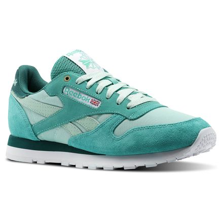 Reebok Classic Leather MCCS Men's Retro Running, Lifestyle Shoes in Malachite