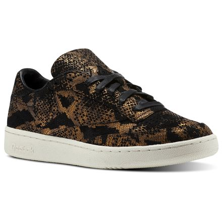 Reebok Club C 85 AFF Unisex Court Shoes in Met Snake-Black / Chalk