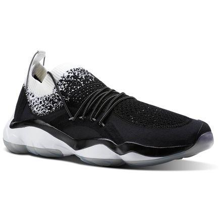 Reebok DMX Fusion HC Unisex Retro Running Shoes in Black / White / Pure Silver