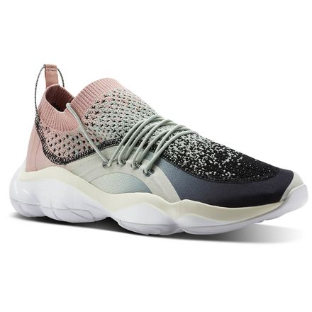 Reebok DMX Fusion Unisex Retro Running Shoes in Eucalyptus / Chalk Pink / Black