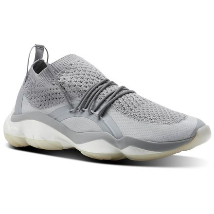 Reebok DMX Fusion CI Unisex Retro Running Shoes in Stark Grey / Chalk