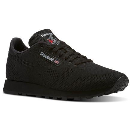 Reebok Classic Leather OG ULTK Men's Retro Running Shoes in Black / Baseball Grey