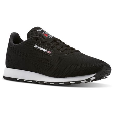 Reebok Classic Leather ULTK Unisex Retro Running Shoes in Black / White