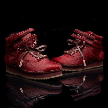 Reebok Freestyle Hi VIBRAM® AR Women's Fitness Shoes in Merlot / Rose Gold
