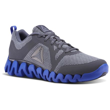 Reebok Zig Evolution 2.0 Men's Running Shoes in Flint Grey / Alloy / Acid Blue / Ash Grey