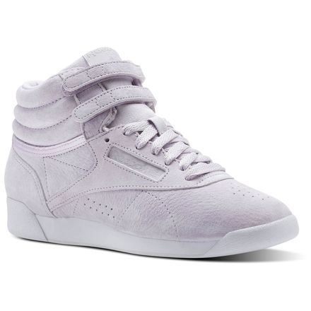 Reebok Freestyle Hi NBK Women's Fitness Shoes in Quartz Purple / White