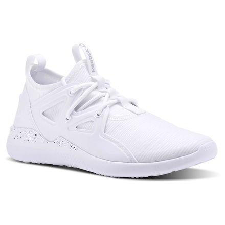 Reebok Cardio Motion Women's Studio Shoes in White / Black / Matte Silver
