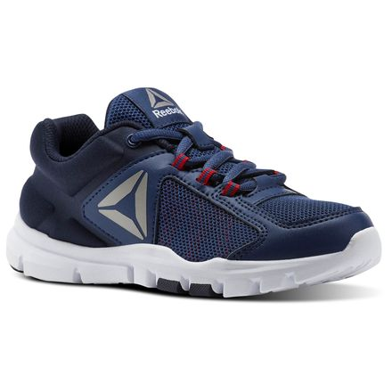 Reebok Yourflex Train 9.0 - Pre-School Kids Training Shoes in Washed Blue / Night Navy / Primal Red / Pewter
