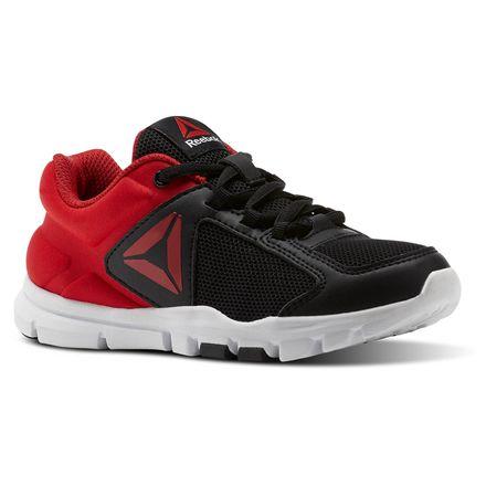 Reebok Yourflex Train 9.0 - Pre-School Kids Training Shoes in Black / Primal Red / White