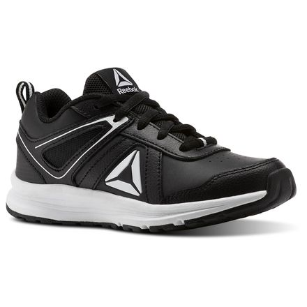 Reebok Almotio 3.0 - Pre-School Kids Running Shoes in Black / White