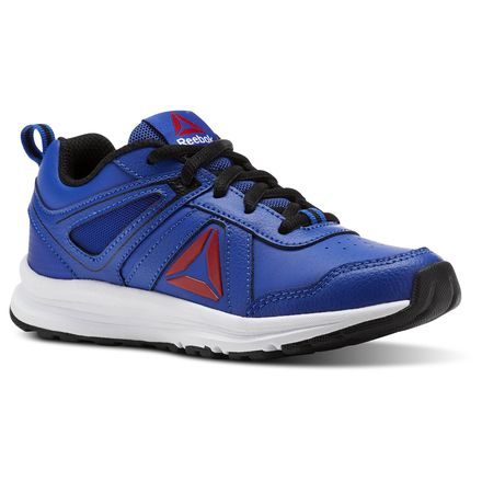 Reebok Almotio 3.0 - Pre-School Kids Running Shoes in Collegiate Royal Blue / Black / White / Red