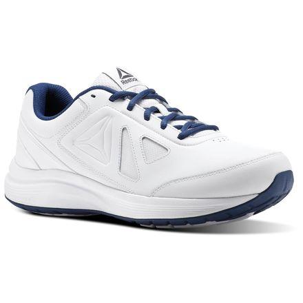 Reebok Walk Ultra 6 DMX Max 4E Men's Walking Shoes in White / Washed Blue
