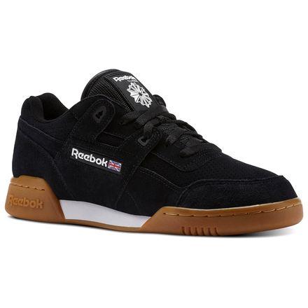 Reebok WORKOUT PLUS EG Unisex Training Shoes in Black / White / Gum