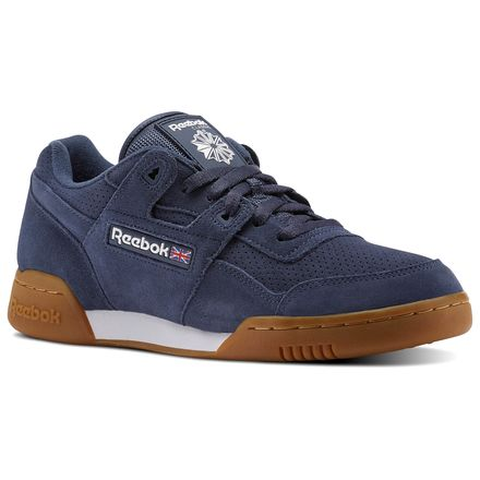 Reebok WORKOUT PLUS EG Unisex Training Shoes in Smoky Indigo / White / Gum