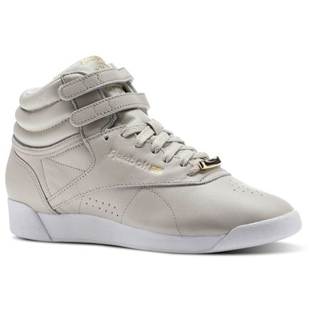 Reebok Freestyle HI Muted Women's Fitness Shoes in Sandstone / White