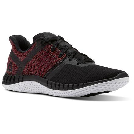 Reebok Print Run NEXT Kids Running Shoes in Black / Rich Magma Red / White