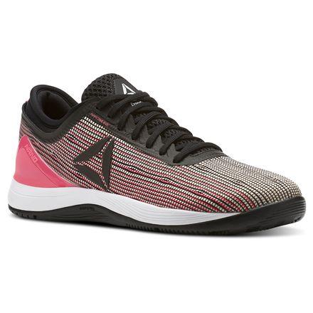 Reebok CrossFit Nano 8 Flexweave Kids Training Shoes in Black / Acid Pink / Desert Dust / White