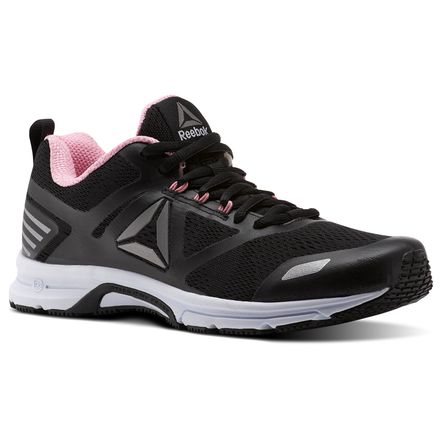 Reebok Ahary Runner Women's Running Shoes in Black / Ash Grey / Squad Pink / Pewter