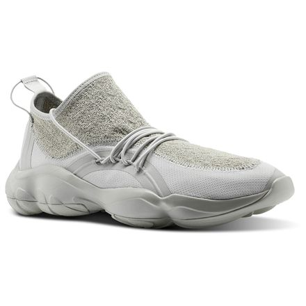 Reebok DMX Fusion TS Unisex Retro Running Shoes in Skull Grey / White / Shark Grey