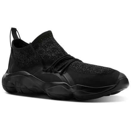Reebok DMX Fusion TS Unisex Retro Running Shoes in Black / Coal / White
