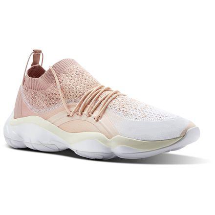 Reebok DMX Fusion Unisex Retro Running Shoes in White / Chalk Pink / Desert Dust