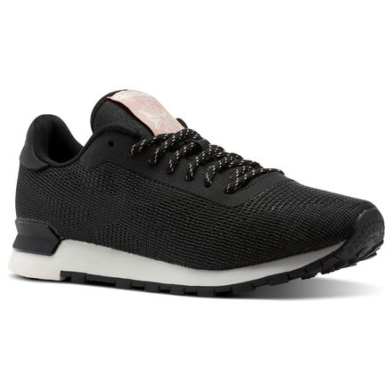 Reebok Women's Retro Running Shoes Classic Flexweave™ in Black / Chalk / Pale Pink / Chalk Pink