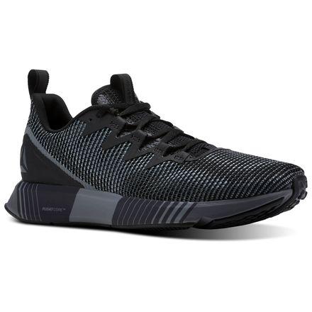 Reebok Fusion Flexweave™ Men's Running Shoes in Black / Alloy / Flint Grey