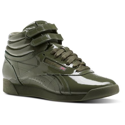 Reebok F/S HI PATENT Women's Fitness Shoes in Hunter Green