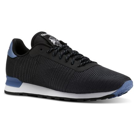 Reebok Classic Leather Flexweave® Unisex Retro Running Shoes in Black