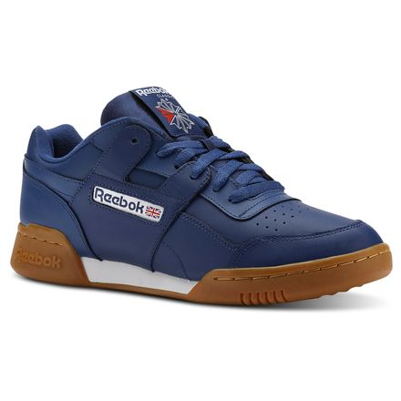 Reebok Workout Plus Unisex Fitness, Lifestyle Shoes in Washed Blue
