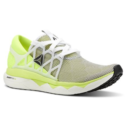 Reebok Floatride Run Flexweave® Women's Running Shoes in White / Solar Yellow