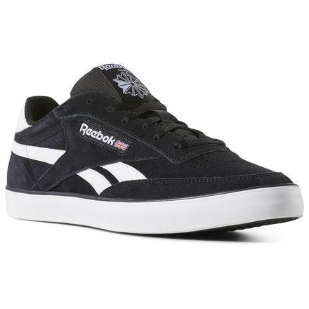 Reebok Shoes Men's Revenge Plus MU in Black/White Size 7 - Court Shoes